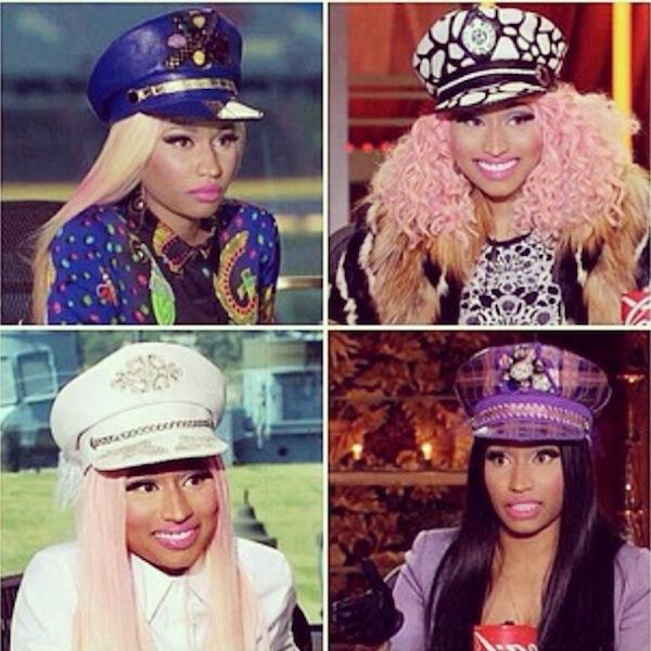 Fashion Fridays  Nicki Minaj s Leather Captain Hats - LargeUp 3e7d23b1ecbe