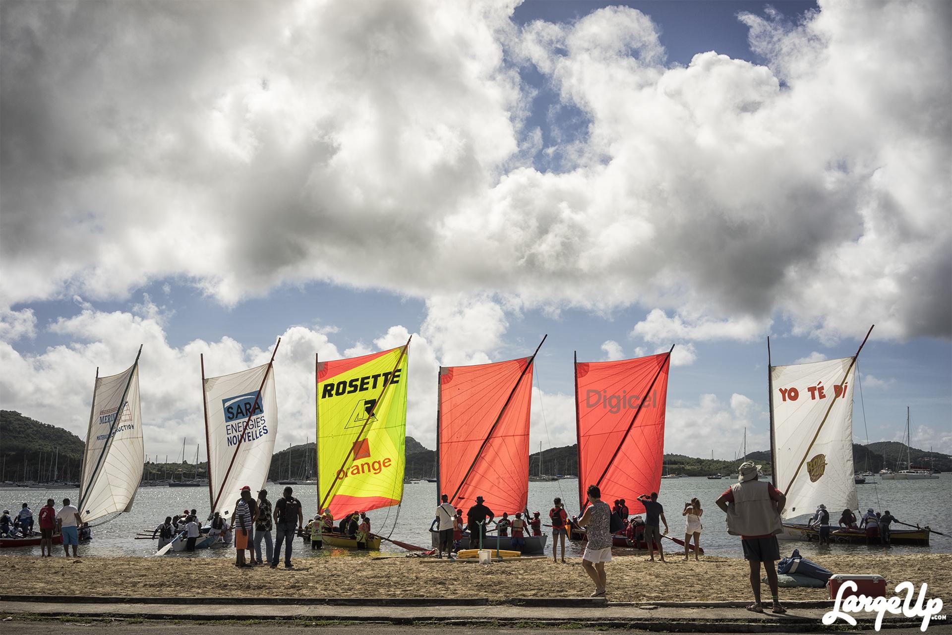Sailboats preparing for the race at Marina du Marin, Martinique photo by Adama Delphine Fawundu